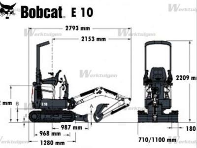 Bobcat E10 a noleggio presso DG Machinery