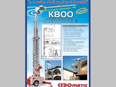 Cinomatic K800 a noleggio presso Pernicini srl
