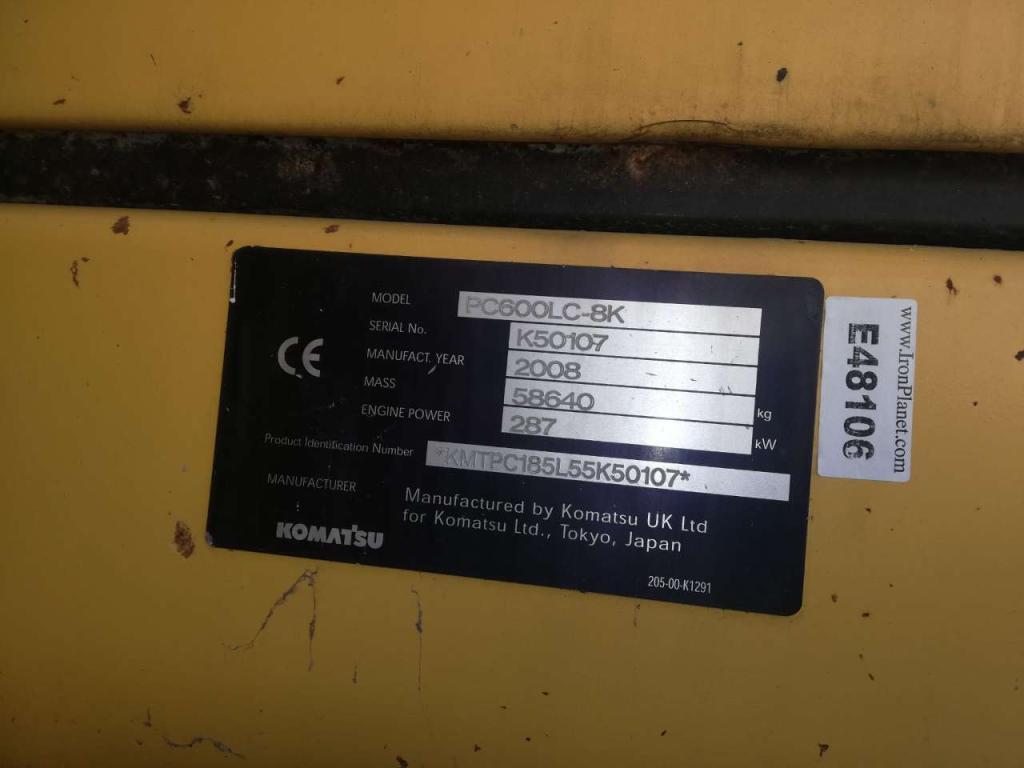 Komatsu PC 600 LC-8K Foto 6